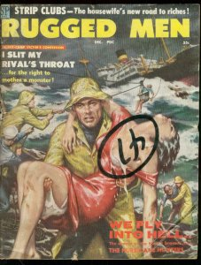 RUGGED MEN DEC 1958-SPICY SHIPWRECK ART-NORMAN SAUNDERS G