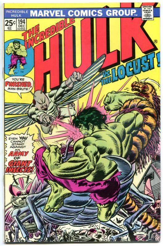 HULK #194, VF+, vs the Locust, Trimpe, Marvel, 1968, Incredible, more in store