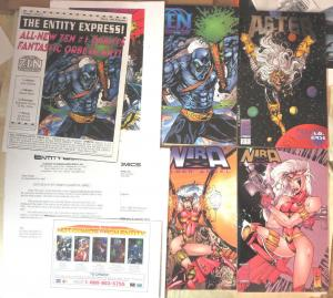 Entity Express Vol 1 Iss 2, March 1995 Comic Book Newsletter w/ Zen Nira comics