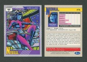 1991 Marvel Comics II  Card  #78 ( Nebula )  MINT