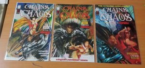 Chains of Chaos 1-3 Complete Set Run! ~ NEAR MINT NM ~ 1994 Harris COMICS