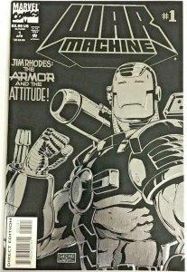 WAR MACHINE #1, VF/NM, Jim Rhodes, Cable, DeathLok, 1994, Marvel, Foil