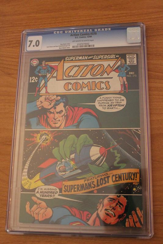 Action Comics #370 (DC, 1968) CGC FN/VF 7.0 Off-white to white pages
