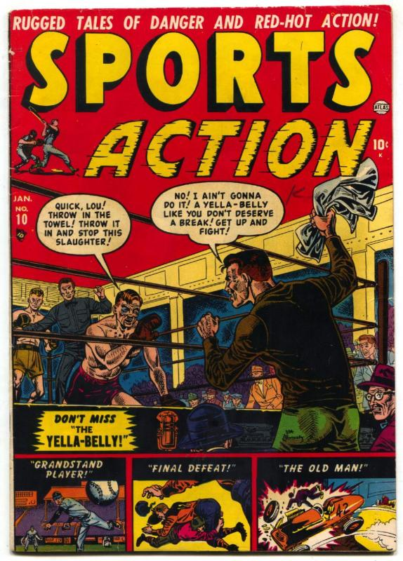 Sports Action #10 1951- VIOLENT BOXING COVER ATLAS f/vf