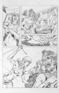 DEAN KOTZ Original Published Art, TRAILER PARK of TERROR #7 page 30,Zombies