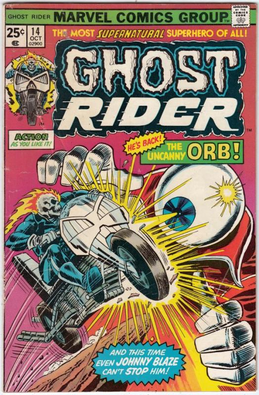 Ghost Rider, The #14 (Oct-75) VG Affordable-Grade Ghost Rider
