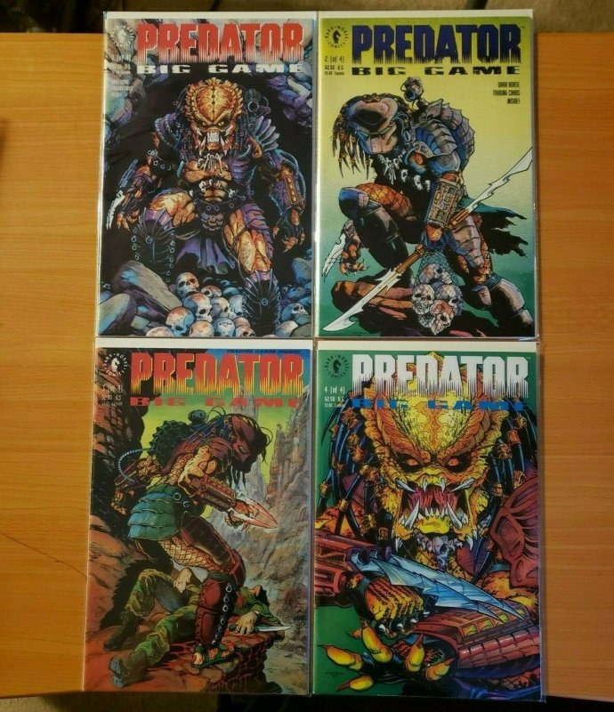 Predator Big Game 1-4 Complete Set Run! ~ NEAR MINT NM ~ 1991 Dark Horse Comics