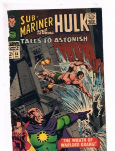 Tales To Astonish # 86 FRONT COVER ONLY Great For Framing Marvel Hulk Namor S73
