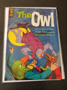 THE OWL #1 GOLD KEY COMIC APR 1967 JERRY SIEGEL STORY HIGH GRADE VF+