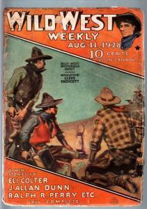WILD WEST WEEKLY-8/11/1928-PULP-BILLY WEST FR/G