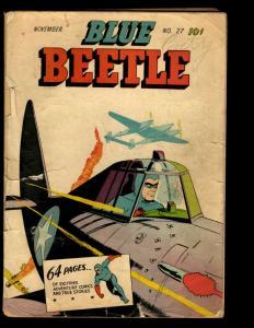 The Blue Beetle # 27 PR Fox Features Syndicate Golden Age Comic Book 1943 NE1