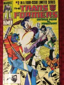 Transformers #2 1984 Optimus Prime Vs Megatron VF+ Marvel