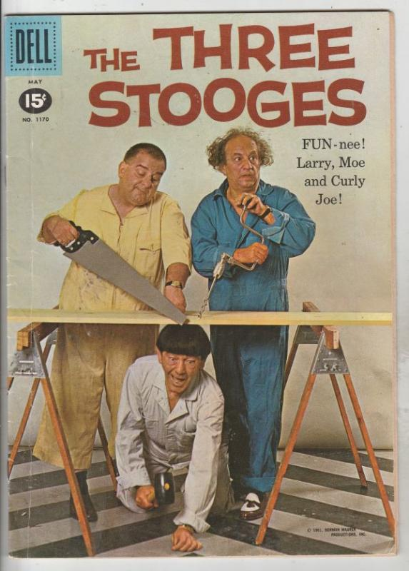 Four Color #1170 (May-61) FN Mid-Grade Larry, Moe, Curly-Joe