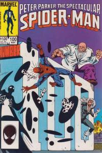 Spectacular Spider-Man (1976 series) #100, VF+ (Stock photo)