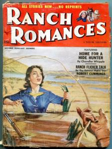 Ranch Romances 2nd February 1953-Quicksand cover- Robert Moore Williams VG