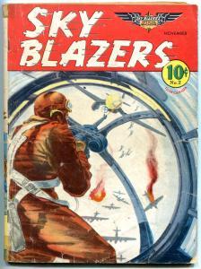 Sky Blazers #2 1940- Rare golden age comic- Sky Pirates VG-