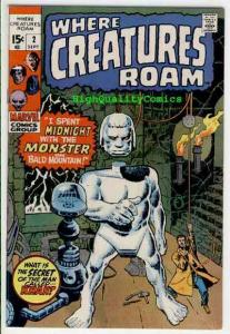WHERE CREATURES ROAM 2, Jack Kirby, Steve Ditko, 1970, VF+