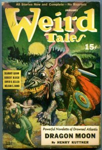 Weird Tales Pulp January 1941- Hannes Bok- Henry Kuttner- Great cover VG