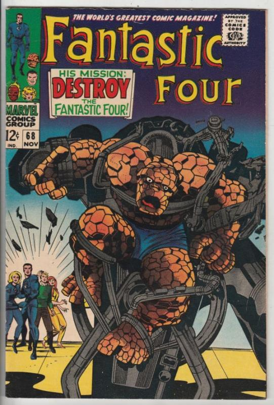 Fantastic Four #68 (Nov-67) VF/NM High-Grade Fantastic Four, Mr. Fantastic (R...