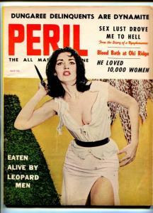 PERIL-APR-1959-PULP ACTION-MAFIA-WWII-BLAZE STARR-STRIPPERS-vg+