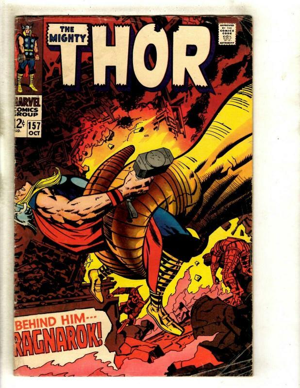 Thor # 157 VG/FN Marvel Comic Book Loki Odin Sif Avengers Hulk Iron Man GK4