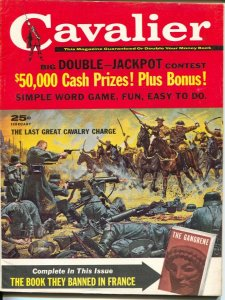 Cavalier 2/1961-Fawcett-pulp thrills-Jack Davis art-decapitation-headhunters-VF