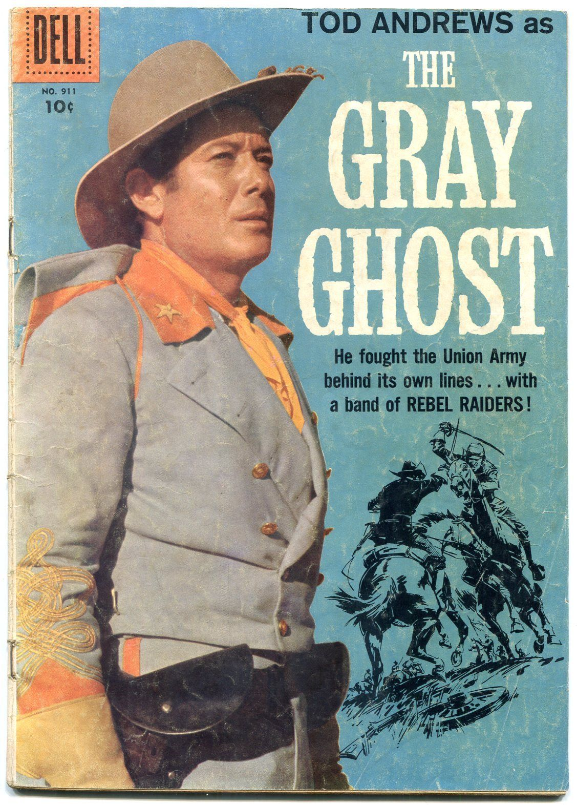 The Gray Ghost- Four Color Comics #911 1958- Tod Andrews VG / HipComic