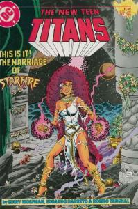 New Teen Titans, The (2nd Series) #17 VF/NM; DC   save on shipping - details ins