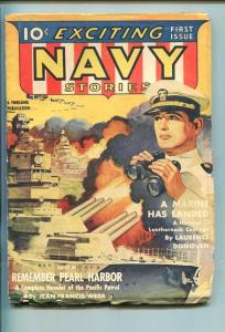 EXCITING NAVY STORIES-#1-APR-1942-PULP-SOUTHERN STATES PEDIGREE-vg/fn