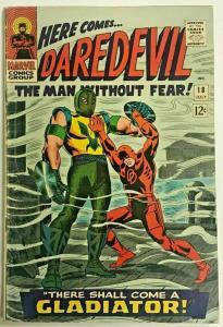 DAREDEVIL#18 VG 1966 FIRST GLADIATOR MARVEL SILVER AGE COMICS