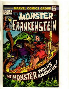 Monster Of Frankenstein # 5 VF Marvel Comic Book Mike Ploog Cover Horror RS1