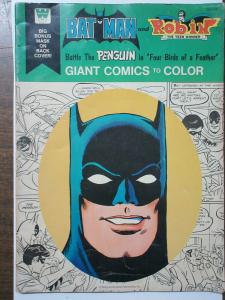 Whitman Giant Comics to Color Lot of 2 Batman and Superman! Four Birds Lost Land