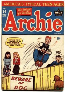 ARCHIE #14 1945-MLJ-GOOD GIRL ART-SPICY-BETTY-VERONICA-FASHIONS-GAGS-FN+