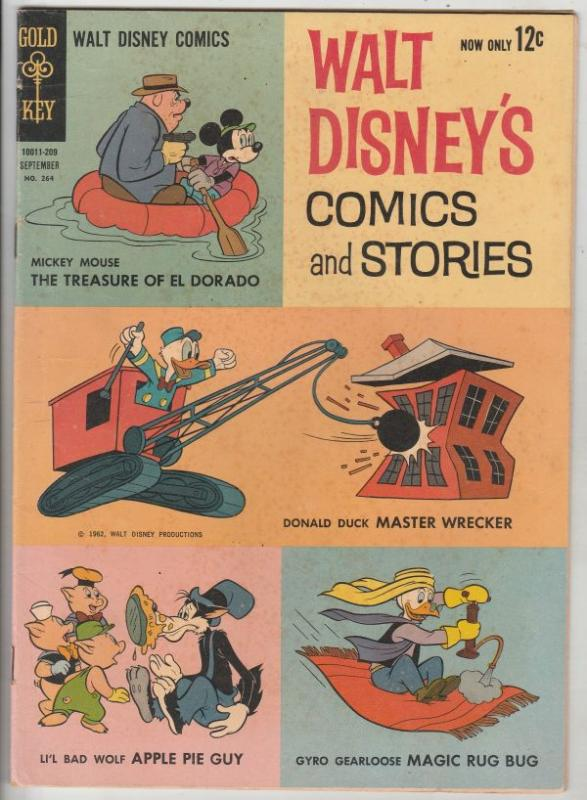 Comics and Stories, Walt Disney's #264 (Sep-62) FN/VF+ Mid-High-Grade Donald ...