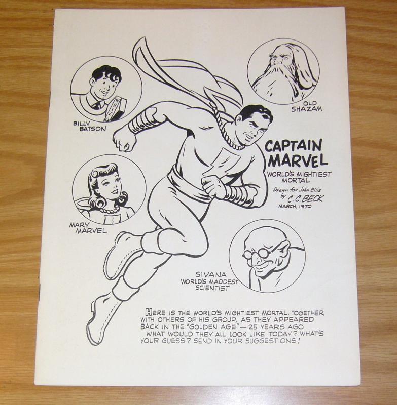 Fulcrum #1 VF fanzine - captain marvel/shazam - john ellis 1970 c.c. beck cover