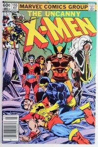 The Uncanny X-Men #155 - Key 1st Appearance BROOD & Skur'kll - NM - Marvel 1982