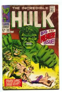 Incredible Hulk #102 comic book 1967 First Issue Key Silver-age Marvel G/VG
