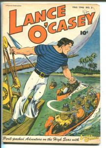 Lance O'Casey #3 1946-Fawcett-Whiz Comics Hero-VF MINUS