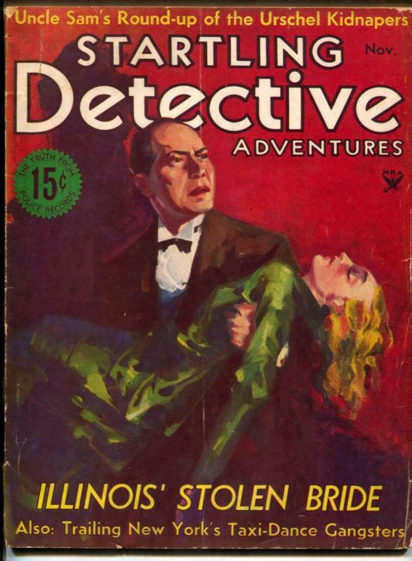 Startling Detective Adventures Magazine 11/1933- Stolen Bride