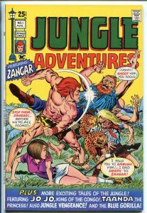 JUNGLE ADVENTURES #1 1971-SKYWALD-1ST ZANGAR-JO-JO - KINSTLER-vf