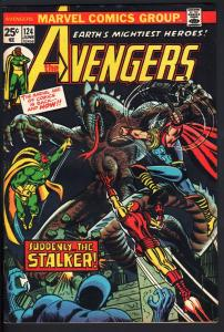 AVENGERS #124-iron man-Thor-captain america-1974