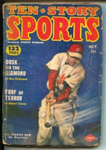 Ten Story Sports 10/1952-baseball cover-boxing-horse racing-G/VG