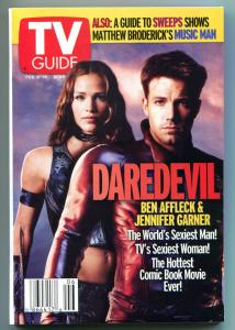 DAREDEVIL ELEKTRA TV guide, February 8-14 2003, Ben Affleck,  more in store