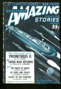 Amazing Stories QuarterlyPulp Summer 1948-Richard Shaver- Harold Sherman