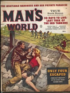 Man's World Magazine October 1961- Eve Eden- Norem art VG