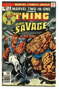 MARVEL TWO-IN-ONE #21 Thing-DOC SAVAGE 1976 VF/NM