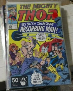 THOR # 436 1991 MARVEL  absorbing man titiana eric masterson