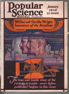 Popular Science 1/1929-Wright Brother-Graf Zeppelin-key issue-VG