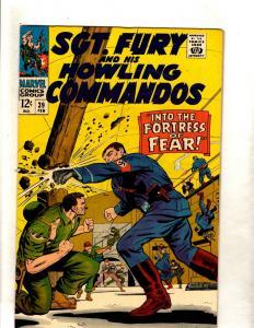 Sgt. Fury & His Howling Commandos # 39 NM Marvel Comic Book MILE HIGH 2 Pedi FM5