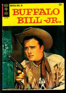 Buffalo Bill Jr #1 1965- Gold Key- Dick West photo cover- VG